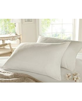 Comfy White Cotton Pillow 144 Thread Count