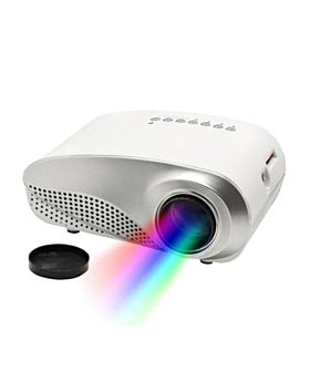 i-View Mini Portable 60 Lumens 1080p LED Projector and Media Player, White